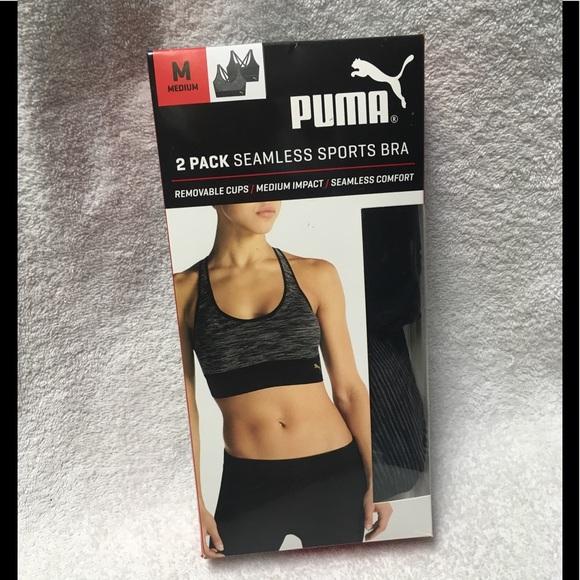 a25fc06fd4 Puma Seamless Sports Bra 2 Pack